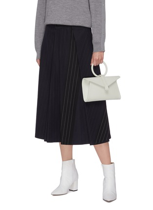 Front View - Click To Enlarge - COMPLÉT - 'Valery' ring handle mini leather envelope clutch