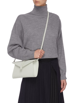 Figure View - Click To Enlarge - COMPLÉT - 'Valery' ring handle mini leather envelope clutch