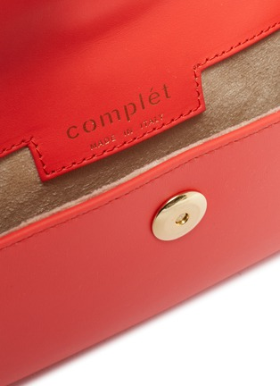 Detail View - Click To Enlarge - COMPLÉT - 'Valery' ring handle micro leather envelope belt bag