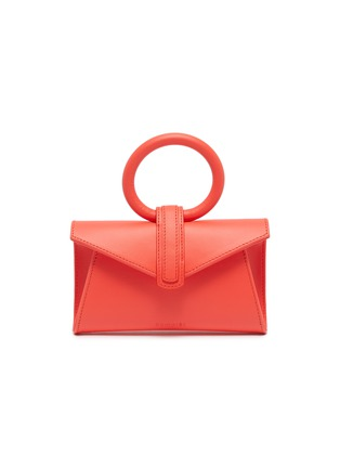 Main View - Click To Enlarge - COMPLÉT - 'Valery' ring handle micro leather envelope belt bag
