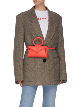 Figure View - Click To Enlarge - COMPLÉT - 'Valery' ring handle micro leather envelope belt bag