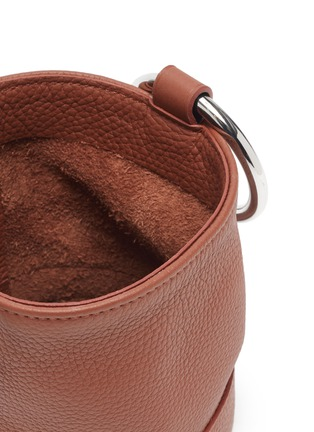 Detail View - Click To Enlarge - SIMON MILLER - 'Bonsai 15' metal ring handle leather bucket bag
