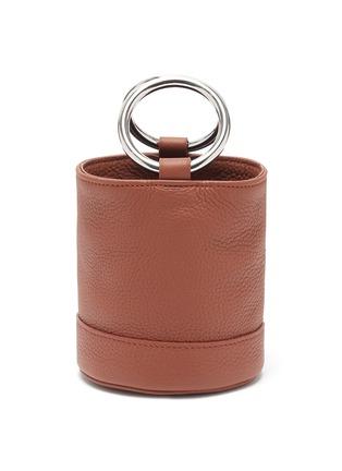 Main View - Click To Enlarge - SIMON MILLER - 'Bonsai 15' metal ring handle leather bucket bag