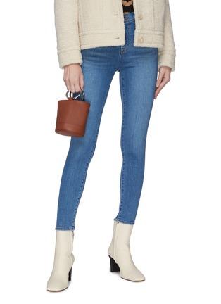 Figure View - Click To Enlarge - SIMON MILLER - 'Bonsai 15' metal ring handle leather bucket bag