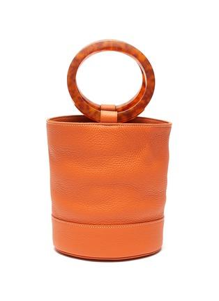 Main View - Click To Enlarge - SIMON MILLER - 'Bonsai 20' acetate ring handle leather bucket bag
