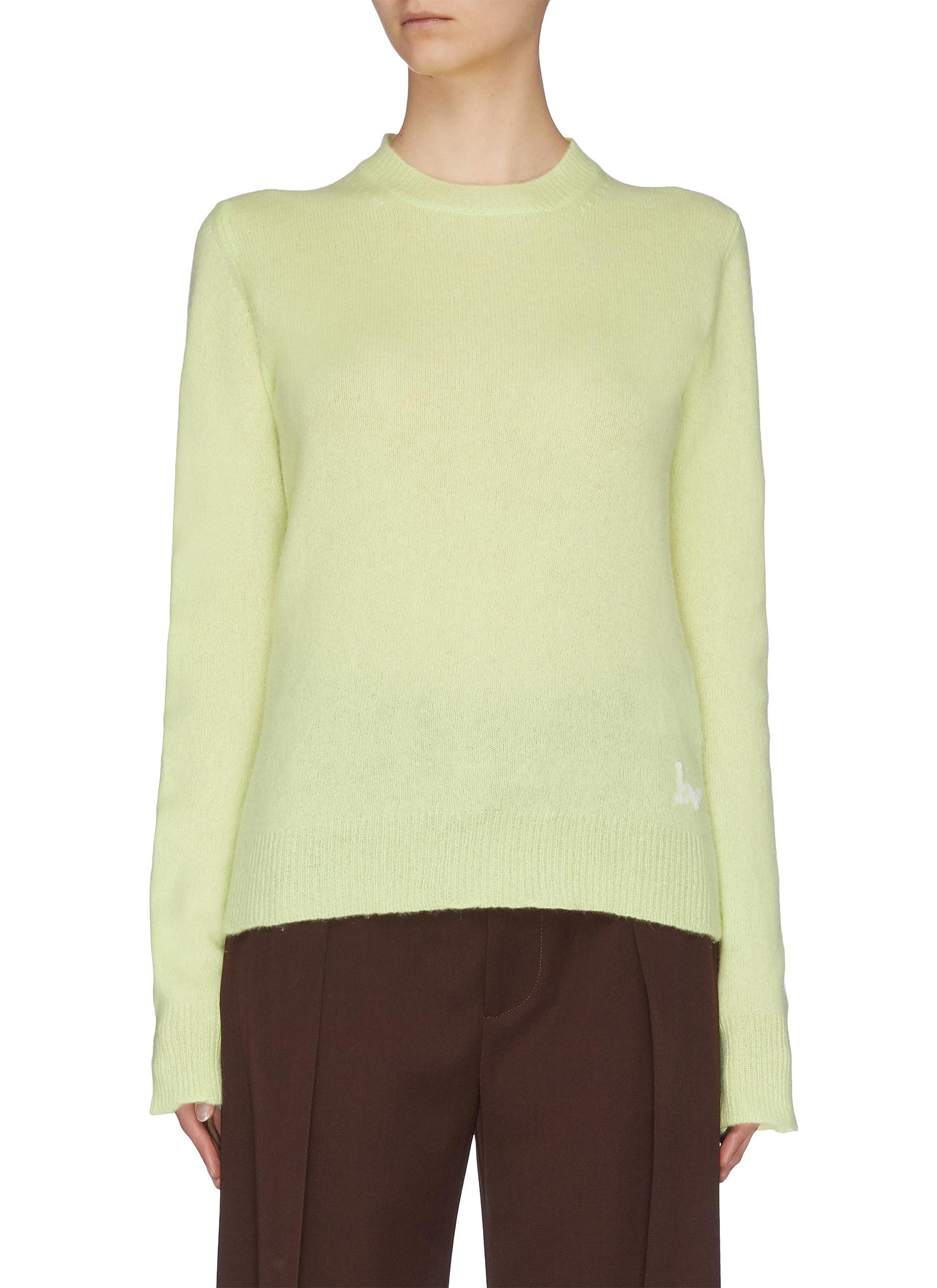 shop Bottega Veneta Logo detail cashmere sweater online