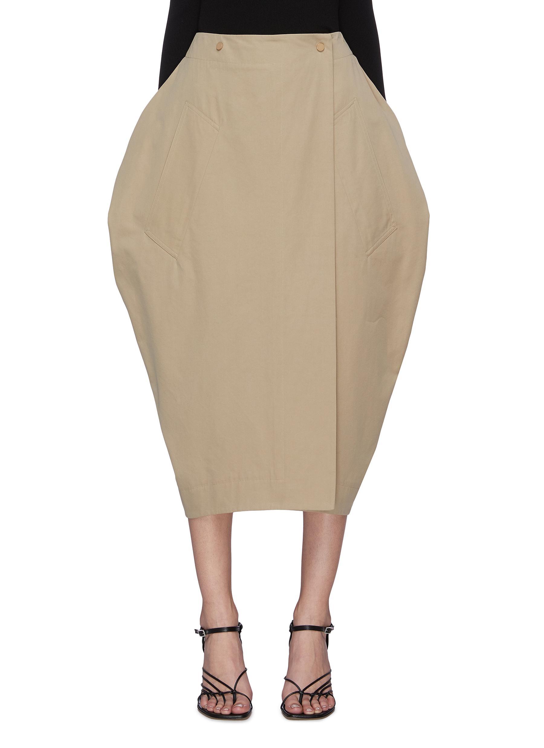 shop Bottega Veneta Balloon midi skirt online