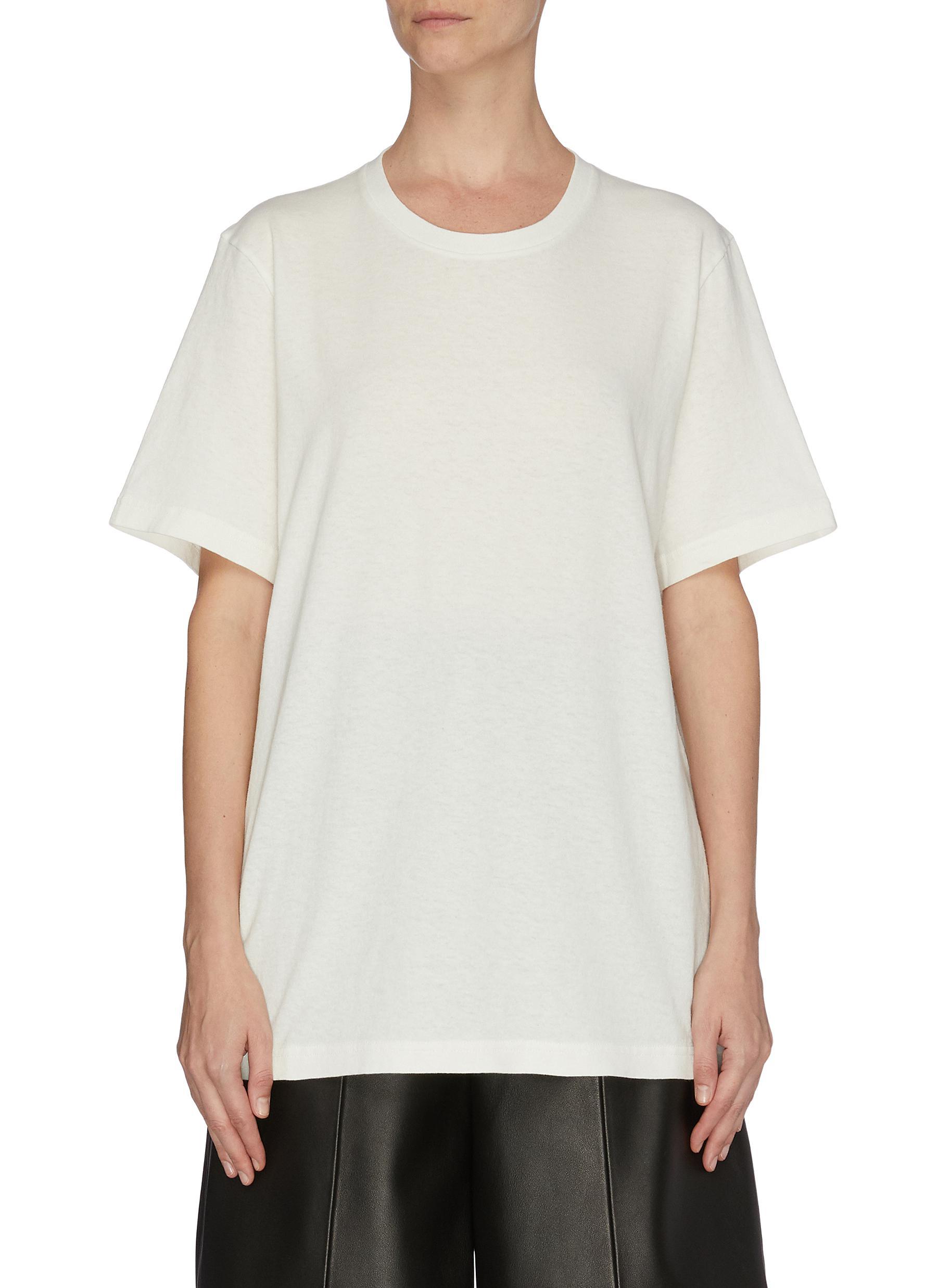 shop Bottega Veneta Logo embroidered boxy T-shirt online