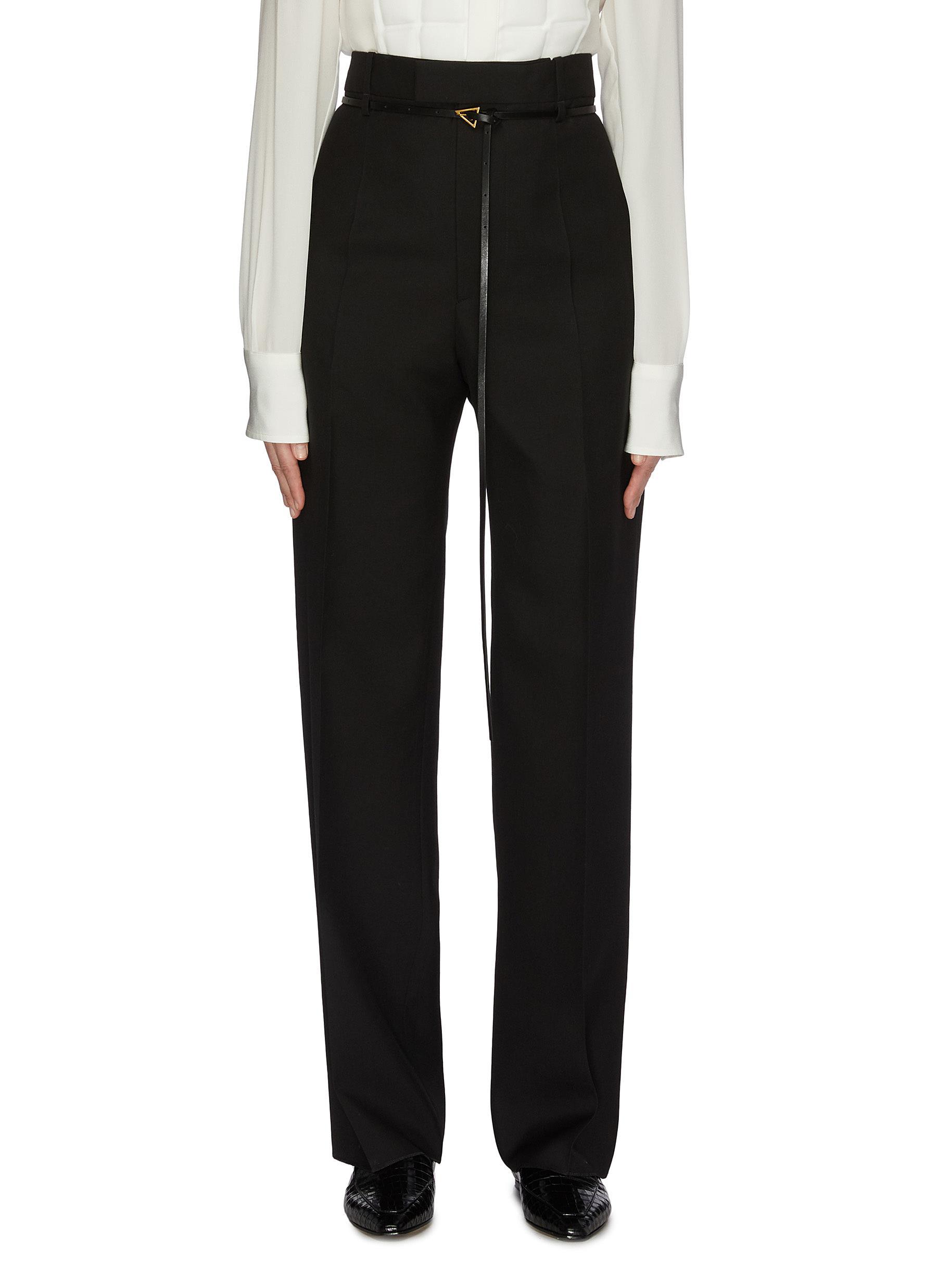 shop Bottega Veneta Belted pleated pants online