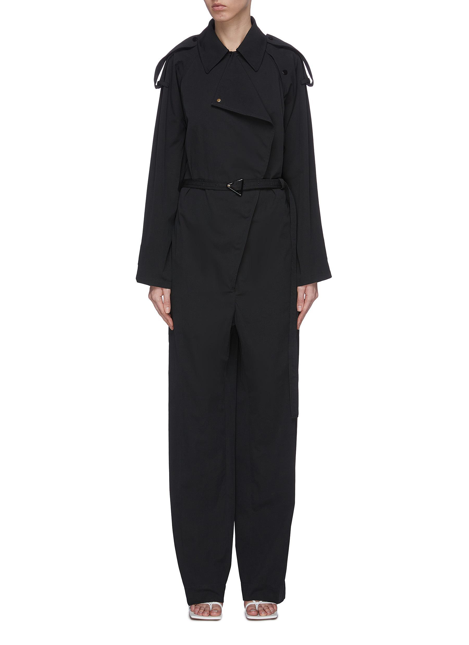shop Bottega Veneta Trench cotton belted jumpsuit online