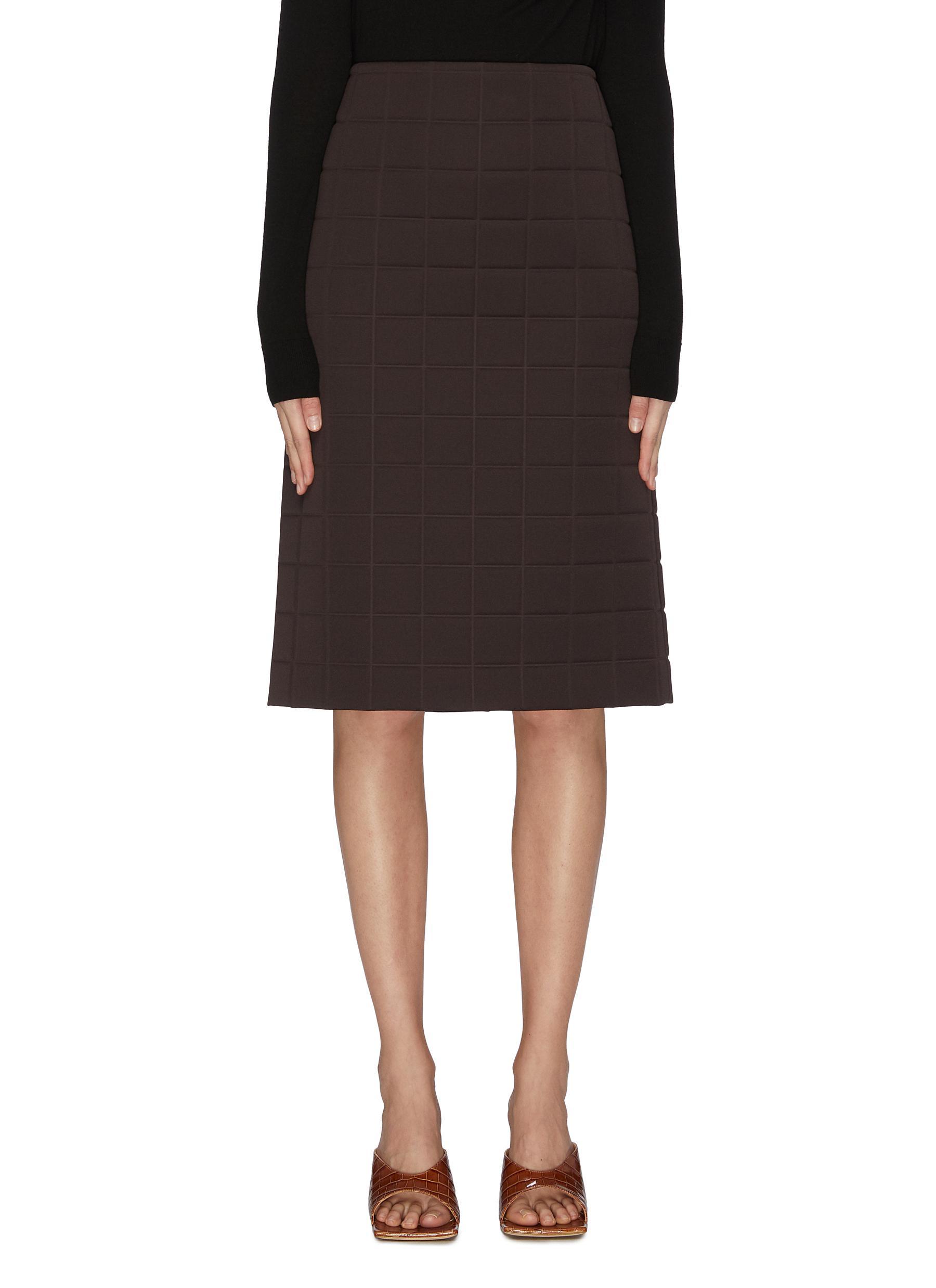 shop Bottega Veneta Mold pencil midi skirt online