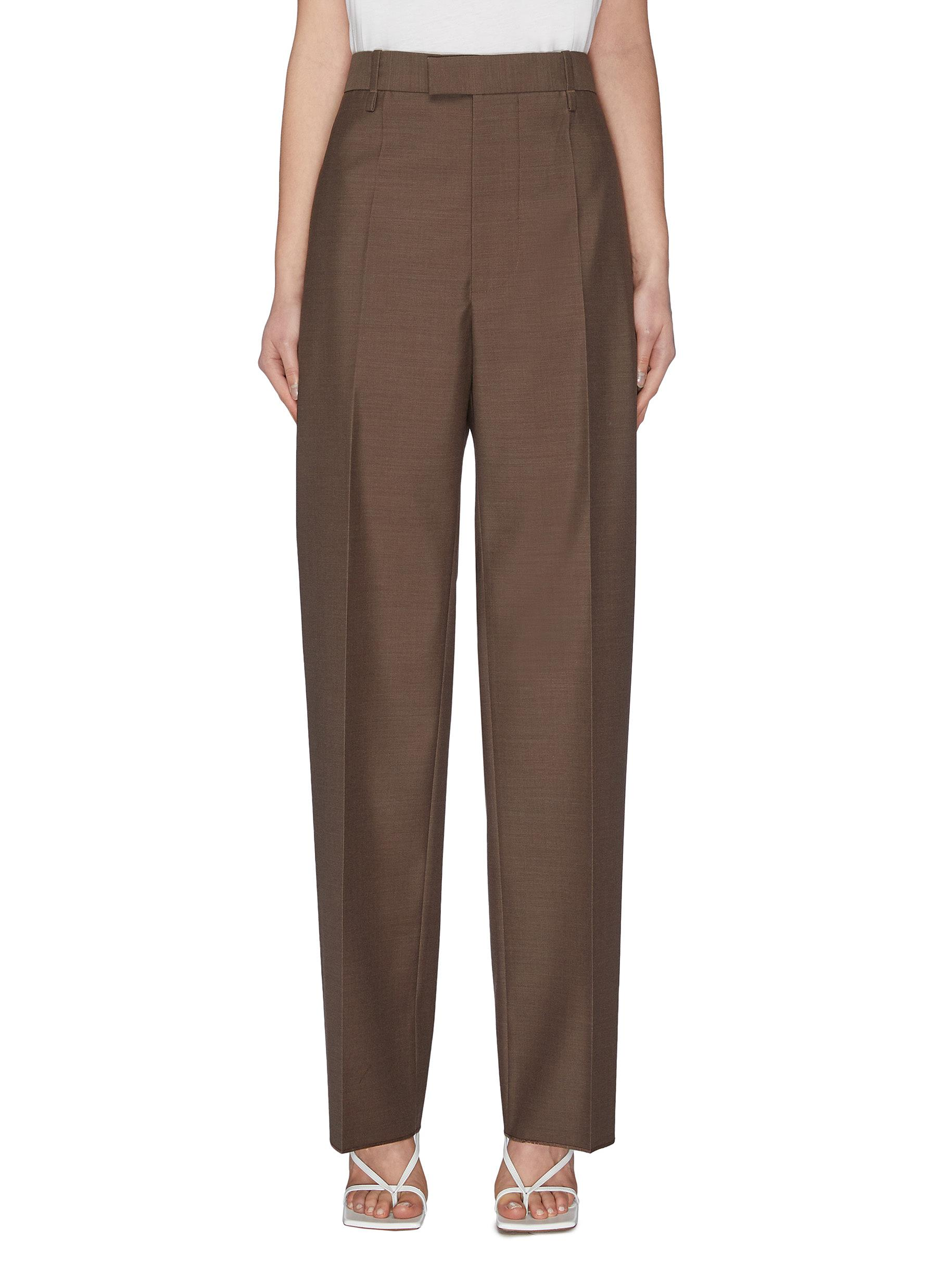 shop Bottega Veneta High waist tailored pants online