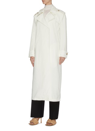 Detail View - Click To Enlarge - BOTTEGA VENETA - V buckle cotton trench coat