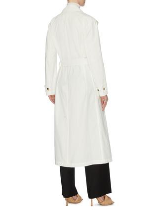 Back View - Click To Enlarge - BOTTEGA VENETA - V buckle cotton trench coat
