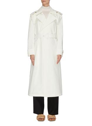 Main View - Click To Enlarge - BOTTEGA VENETA - V buckle cotton trench coat