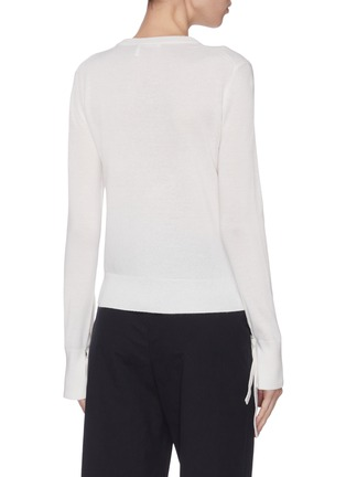 Back View - Click To Enlarge - CHLOÉ - Tie cuff cashmere sweater