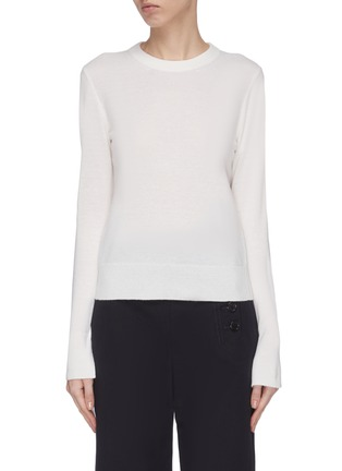 Main View - Click To Enlarge - CHLOÉ - Tie cuff cashmere sweater