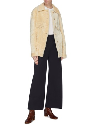 Figure View - Click To Enlarge - CHLOÉ - Tie cuff cashmere sweater