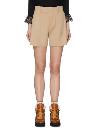 Main View - Click To Enlarge - CHLOÉ - Virgin wool blend tailored shorts
