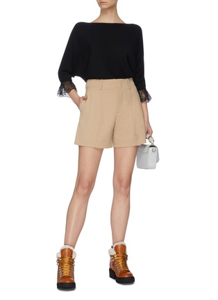 Figure View - Click To Enlarge - CHLOÉ - Virgin wool blend tailored shorts