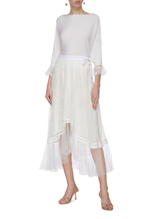 Figure View - Click To Enlarge - CHLOÉ - 'Chanti' lace overlay skirt