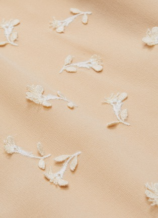 - CHLOÉ - Guipure embroidered necktie blouse