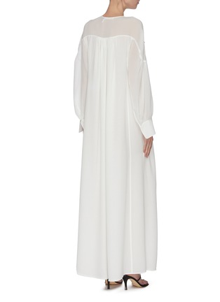 Back View - Click To Enlarge - CHLOÉ - Neck tie silk maxi dress