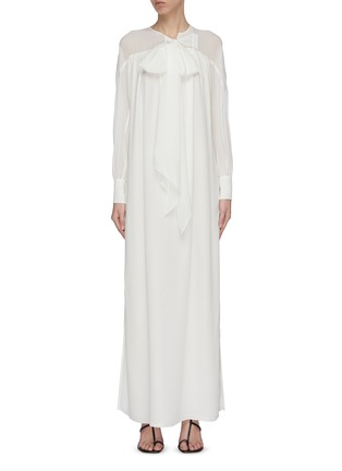 Main View - Click To Enlarge - CHLOÉ - Neck tie silk maxi dress