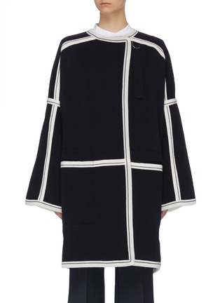 Main View - Click To Enlarge - CHLOÉ - Contrast paneled raglan knit cardigan