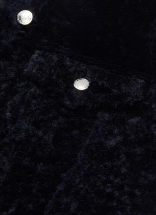 - CHLOÉ - Shearling metallic button gilet