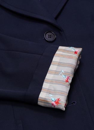 - CHLOÉ - Floral print cuff blazer