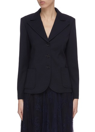 Main View - Click To Enlarge - CHLOÉ - Floral print cuff blazer