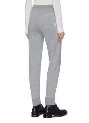 Back View - Click To Enlarge - CHLOÉ - Patch pocket cashmere jogging pants