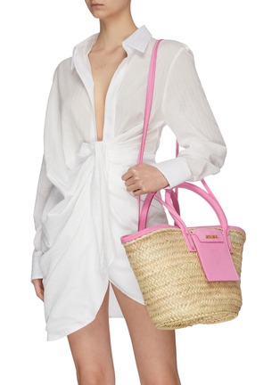 Front View - Click To Enlarge - JACQUEMUS - 'Le Panier Soleil' hand held straw tote bag