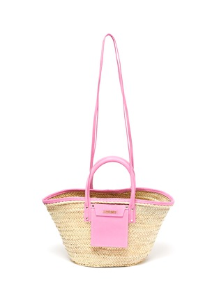 Main View - Click To Enlarge - JACQUEMUS - 'Le Panier Soleil' hand held straw tote bag