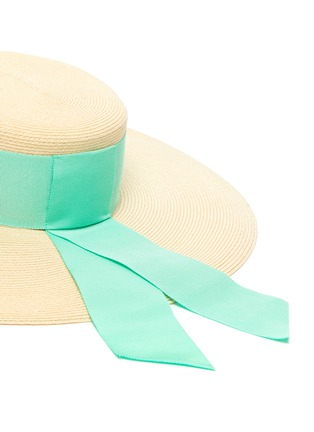 Detail View - Click To Enlarge - EUGENIA KIM - 'Loulou' ribbon band straw boater