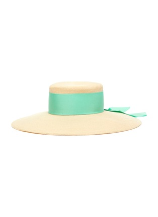 Main View - Click To Enlarge - EUGENIA KIM - 'Loulou' ribbon band straw boater