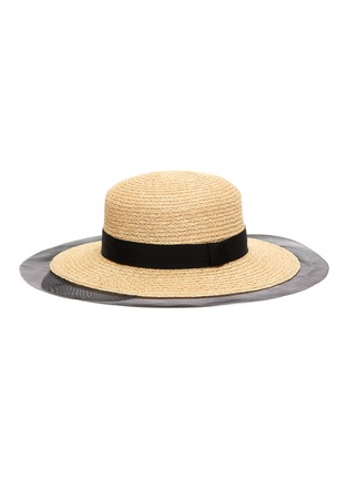Figure View - Click To Enlarge - EUGENIA KIM - 'Brigitte' horsehair edge ribbon band straw boater