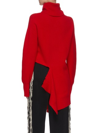 Back View - Click To Enlarge - MONSE - Distressed turtleneck sweater