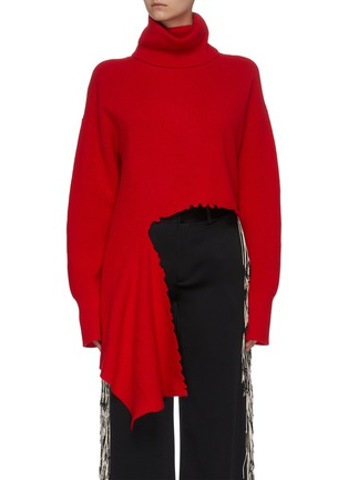 Main View - Click To Enlarge - MONSE - Distressed turtleneck sweater