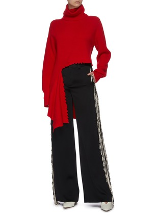 Figure View - Click To Enlarge - MONSE - Distressed turtleneck sweater