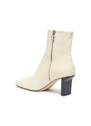 - AEYDE - 'Billy' square toe contrast heel boots
