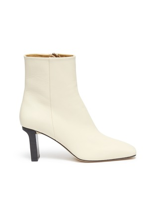 Main View - Click To Enlarge - AEYDE - 'Billy' square toe contrast heel boots