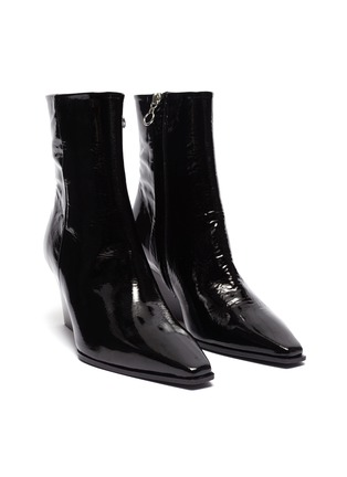 Detail View - Click To Enlarge - AEYDE - 'Lena' wedge leather ankle boots