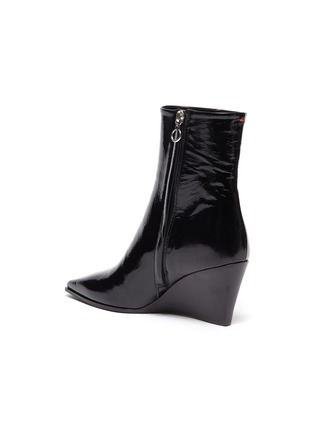 - AEYDE - 'Lena' wedge leather ankle boots