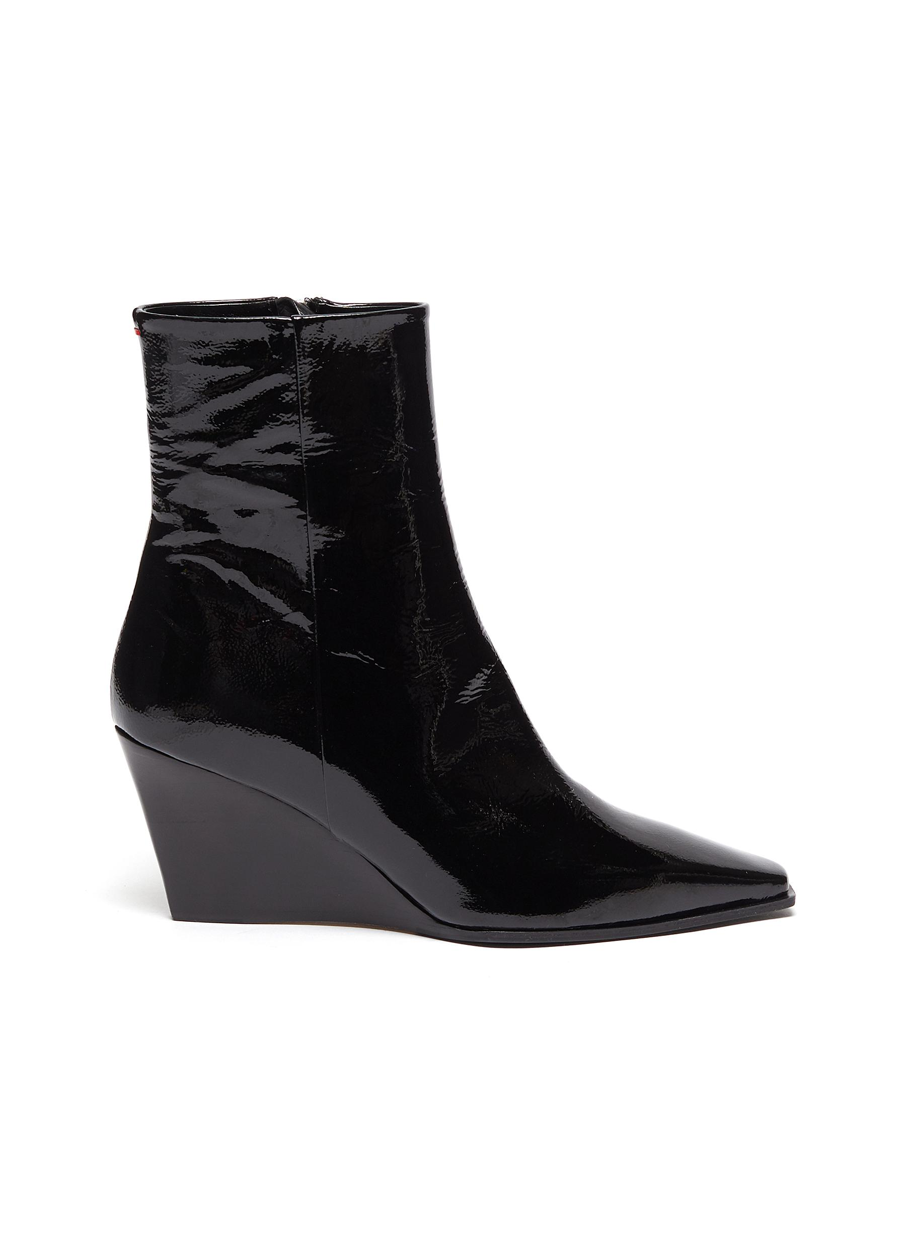 Aeyde Boots Lena wedge leather ankle boots