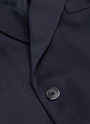 - PRADA - Notch lapel double breast gabardine jacket