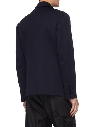 Back View - Click To Enlarge - PRADA - Notch lapel double breast gabardine jacket