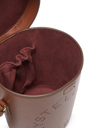 Detail View - Click To Enlarge - STELLA MCCARTNEY - Perforated eco leather bucket bag