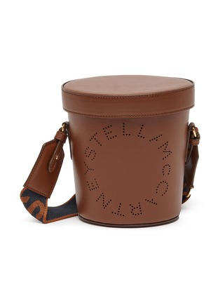 Main View - Click To Enlarge - STELLA MCCARTNEY - Perforated eco leather bucket bag